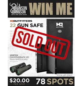 Draw #178- 22 Gun Safe w/ Vortex Diamondback HD 10x50 Binos