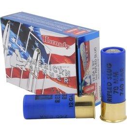 Hornady Hornady American Gunner Shotgun Ammo 12 GA REDUCED RECOIL 1oz SLUG AG, 5 Rnd