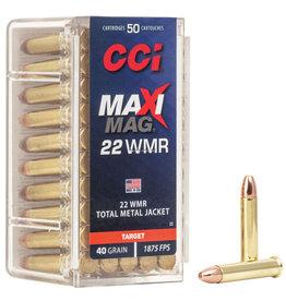 CCI CCI Maxi Mag Rimfire Rifle Ammo 22 WIN MAG, TMJ, 40 Grains, 1875 fps, 50 Rounds, Boxed