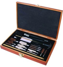 OUTERS Outers Universal Cleaning Kit Brass 28pc Wood Box .22Cal & Up