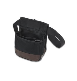 """US PeaceKeeper P23010 Divided Shell Pouch - Blk/Tan 8"""" x 4"""" x 7.5"""""""