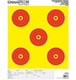 Champion Champion 5-BULLS YEL/RED Shotkeeper Target 12 PK