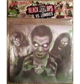 Black Ops Black Ops vs. Zombies Paper Targets 20ct - 4 designs (5 of each)