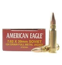 Federal Ammunition FEDERAL AMMUNITION AMERICAN EAGLE 7.62X39MM SOVIET 124GR FULL METAL JACKET 20/BX