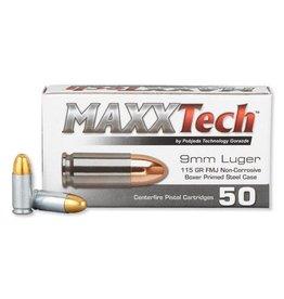 MaxxTech MAXXTECH 9MM LUGER 115GR FMJ 50/BX