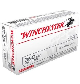 Winchester WINCHESTER AMMO USA 380 AUTO 95GR FMJ 50/BX