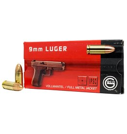 Geco GECO AMMO 9MM LUGER 124GR FULL METAL JACKET 50/BX