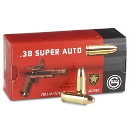 Geco GECO AMMO .38 SUPER AUTO 124GR FULL METAL JACKET 50/BX