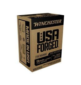 Winchester WINCHESTER USA FORGED AMMO 9MM LUGER FMJ BRASS 115GR 150/BX
