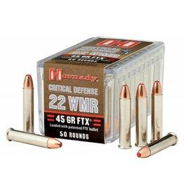 Hornady HORNADY 22WMR 45 GR FTX CRITICAL DEFENSE  50/BX