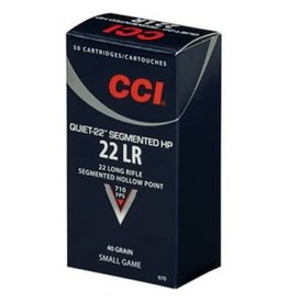 CCI Ammunition CCI AMMUNITION SEGMENTED HP QUIET-22 22LR 40GR 50/BX