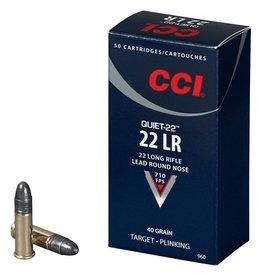 CCI Ammunition CCI AMMUNITION QUIET-22 22LR 40GR LRN 50/BX