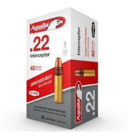 Aguila Ammunition AGUILA 22LR 40GR INTERCEPTOR COPPER-PLATED SP 50/BX