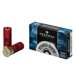 Federal Ammunition FEDERAL AMMUNITION POWER-SHOK 12GA 3IN 76MM MAGNUM 10PELLETS 000BUCK 5/BX