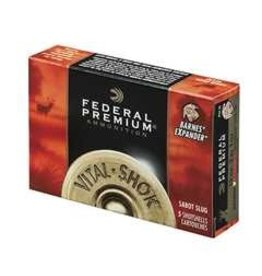 Federal FEDERAL AMMO VITAL-SHOK 20GA 2.75IN 275GR TROPHY COPPER SABOT SLUG 5/BX