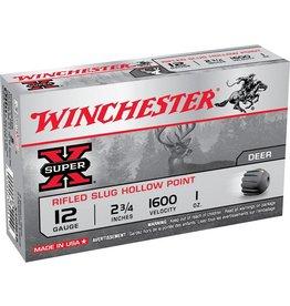 Winchester WINCHESTER SUPER-X 12GA 2.75IN 1OZ SLUG 5/BX