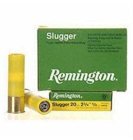 Remington REMINGTON SLUGGER AMMO 20GA 2.75IN 5/8OZ RIFLED HOLLOW POINT SLUG 5/BX