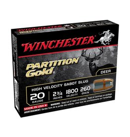Winchester WINCHESTER PARTITION GOLD AMMO 20GA 2.75IN 260GR SABOT 5/BX