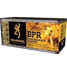 Browning BROWNING AMMO BPR PERFORMANCE RIMFIRE JACKETED HOLLOWPOINT 22WIN MAG 40GR 50/BX