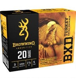 "Browning BROWNING BXD 20 GA. 3"" 1.1/4 OZ #5 TURKEY AMMO"