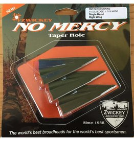 Zwickey Zwickey No Mercy Taper Hole Broadheads (3-pack)