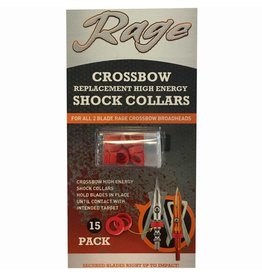Rage Rage Crossbow Replacement High Energy Shock Collars (for all 2-blade rage crossbow broadheads) 15-pack
