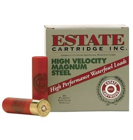 Estate Cartridges ESTATE HIGH VELOCITY MAGNUM STEEL AMMO 12GA 3 IN 1 3/8OZ BBBSHOT 25/BX