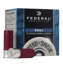 Federal Ammunition FEDERAL AMMUNITION STEEL WATERFOWL SHOTSHELLS 12GA 2 3/4 1OZ. 4SHOT SPEED-SHOK 25/BX