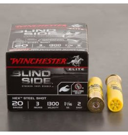 Winchester WINCHESTER BLIND SIDE AMMO HEX STEEL SHOT 20GA 3IN 1 1/16OZ 2 SHOT 25/BX