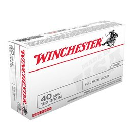 Winchester WINCHESTER  40 S&W 180GR FULL METAL JACKET 50/BX