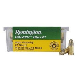 Remington REMINGTON AMMO HIGH VELOCITY 22 SHORT PLATED RN 100 RIMFIRE CARTRIDGES