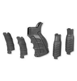 CAA CAA UPG16 AR15 Pistol Grip W/6 Interchangeable Finger Grooves &