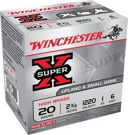 "Winchester WINCHESTER SUPERX 20G 2.75"" 2-3/4 1oz. #6 HB"
