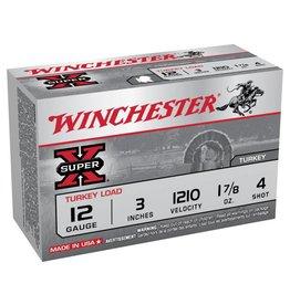 """Winchester WINCHESTER SUPER X 12 GAUGE 3"""" #4 1.7/8 OZ TURKEY LOAD"""