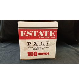 "Estate Cartridges ESTATE 12GA. 2 3/4"" 3 DRM 1 1/8oz #7 1/2 100 ROUND BOX"