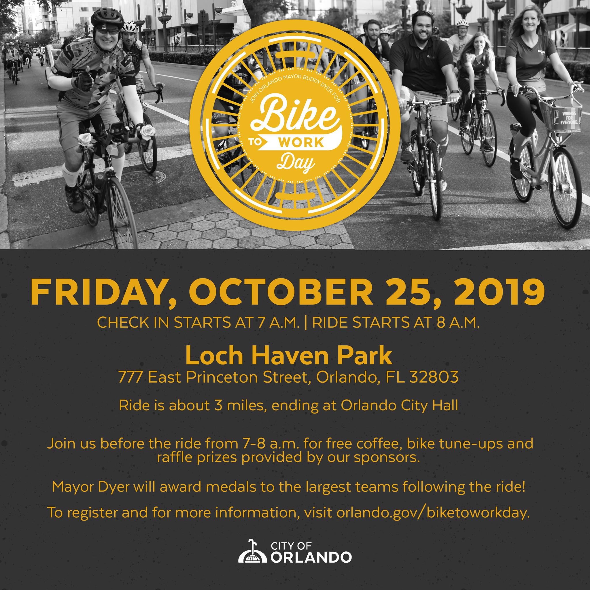 Bike to Work with Mayor Buddy Dyer!