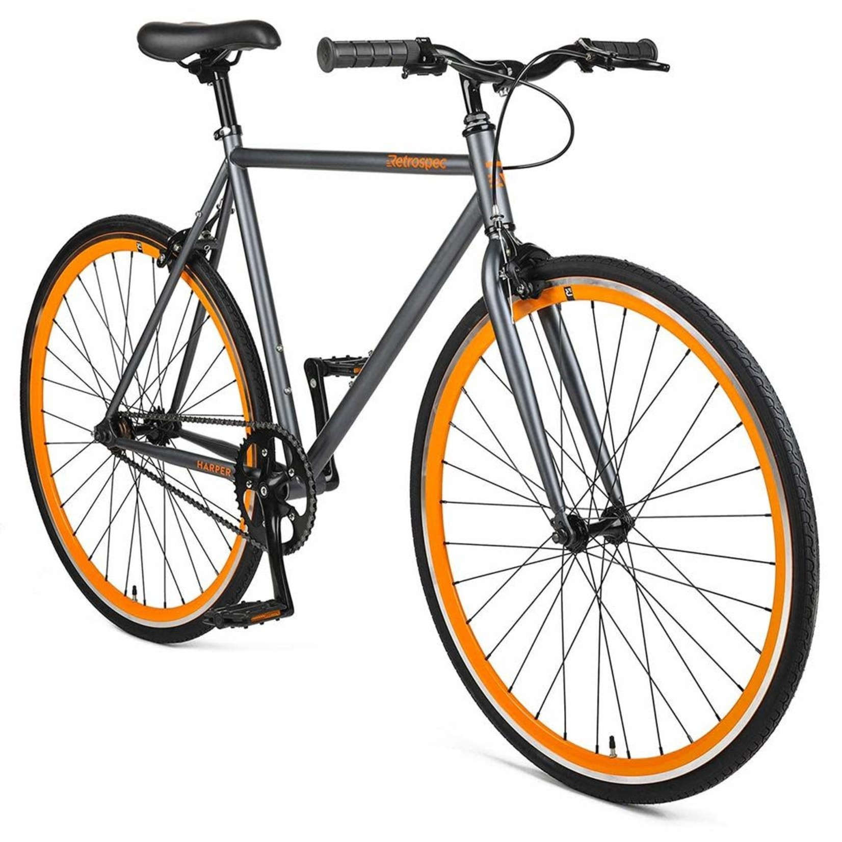 Retrospec Harper Graphite/Orange 57 cm