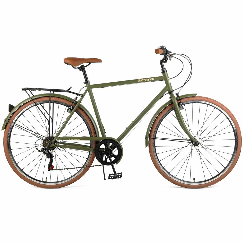 Retrospec Beaumont 7sp Matte Olive 50 cm