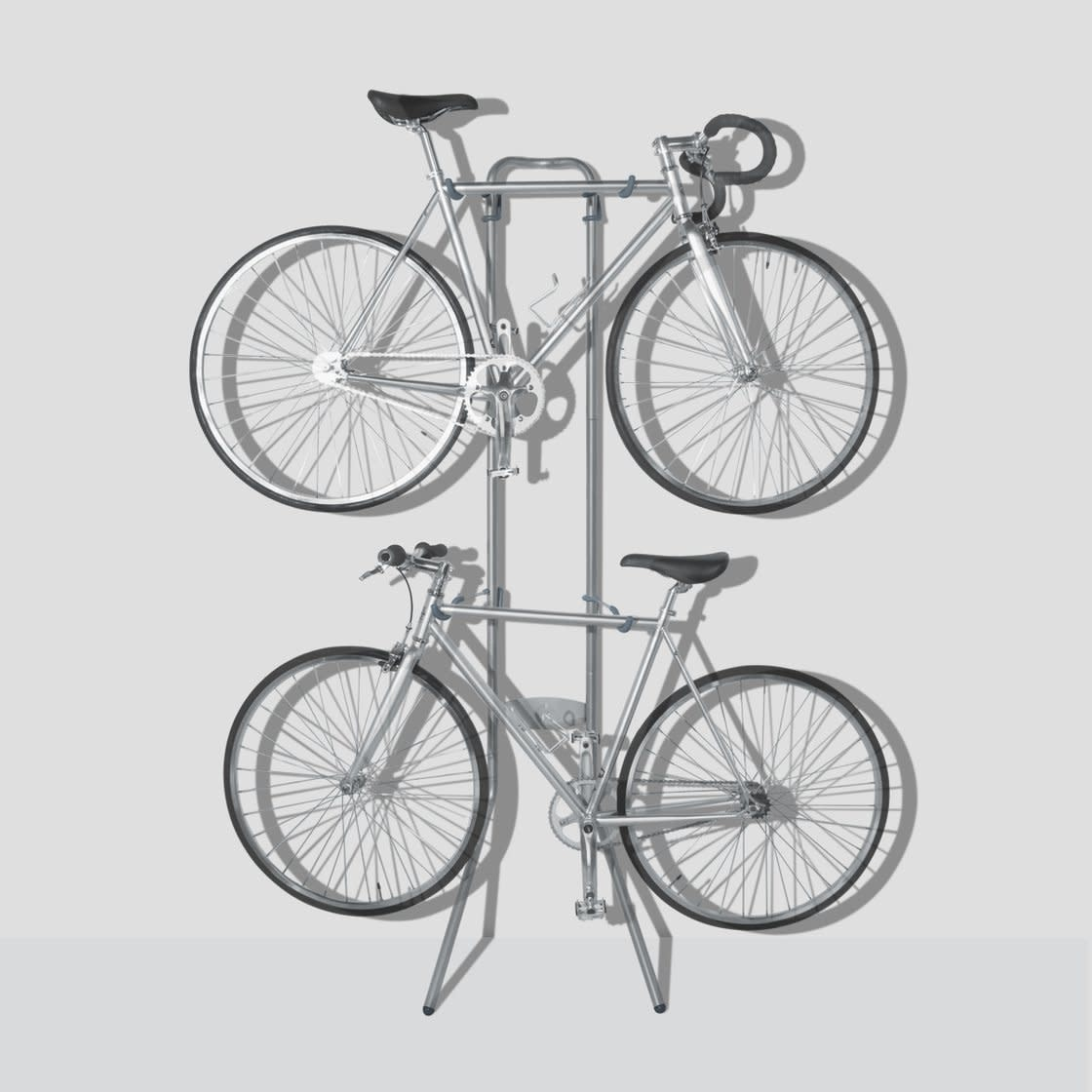 Two Bike Gravity Stand: Holds Two Bikes