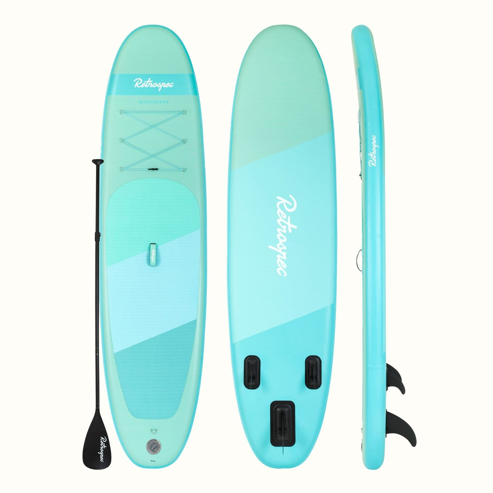 Retrospec Weekender Paddleboard 10' Seafoam Gradient