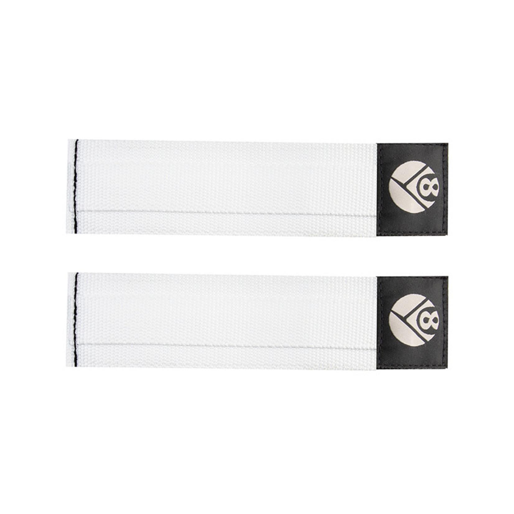 Origin8 Toe Straps Pro Grip II White