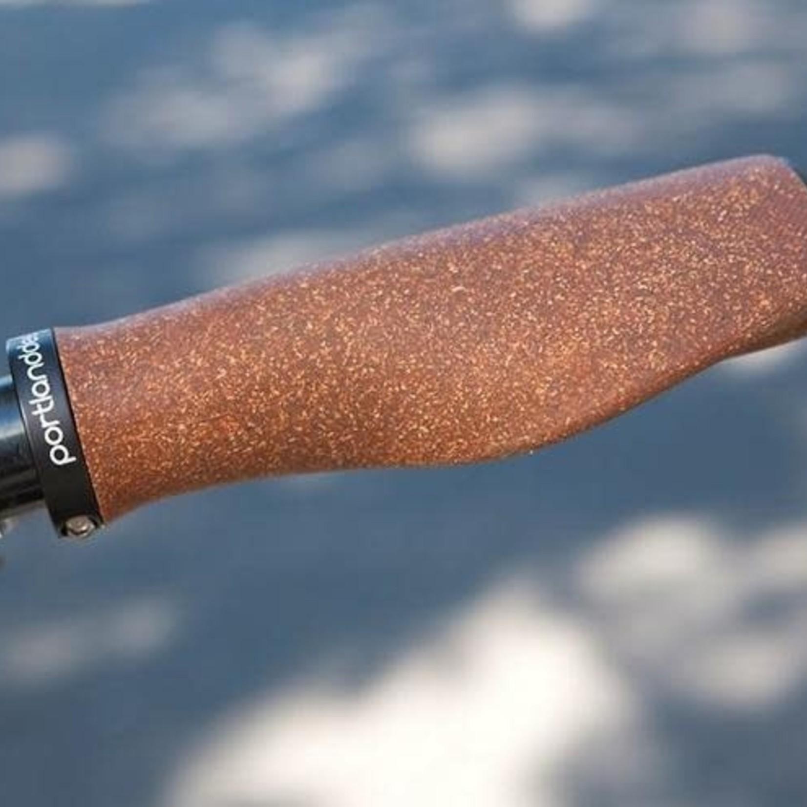 Portland Design Works Cork Chop Grips - Natural, Lock-On