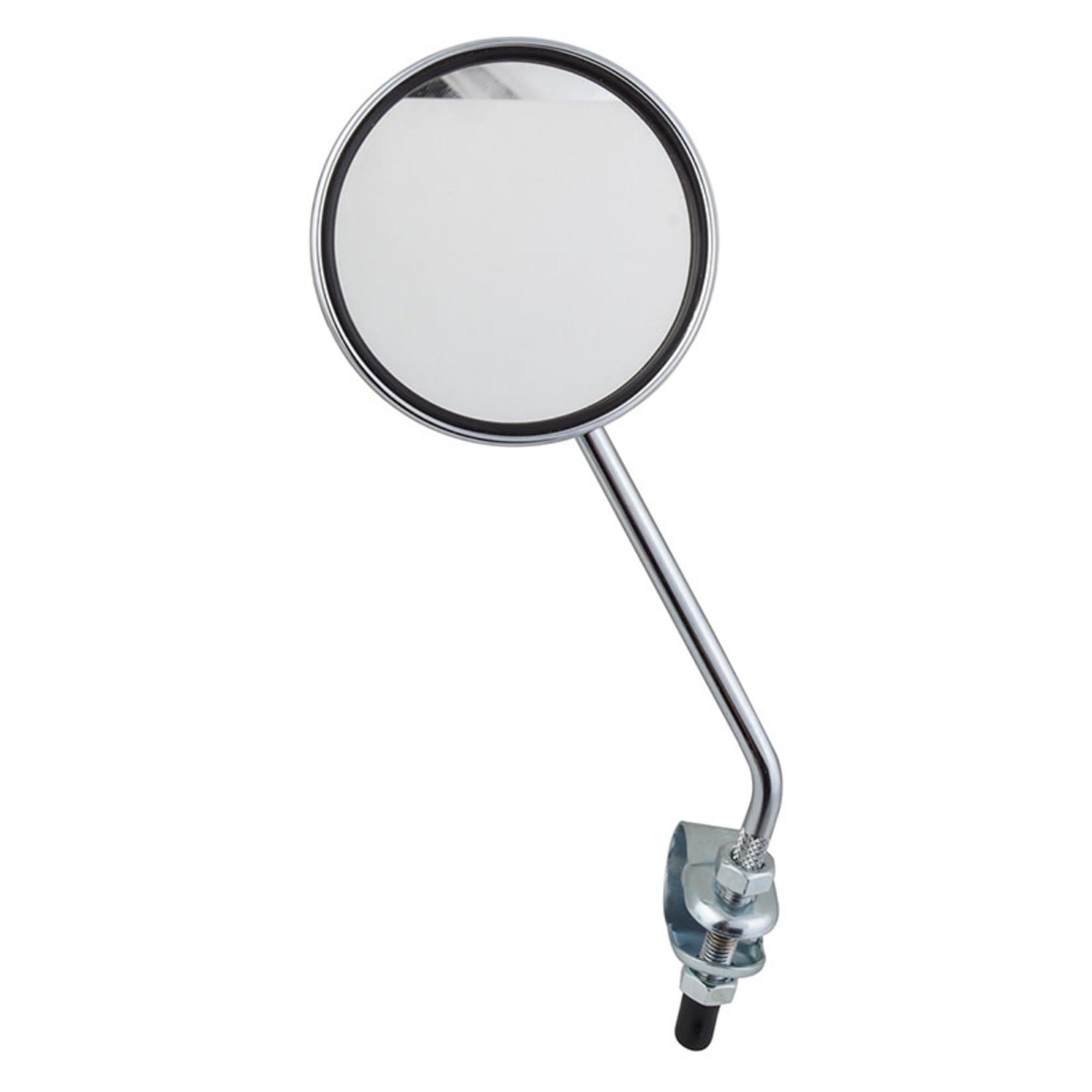 MIRROR SUNLT ROUND 3in CP w/YL REFLECTOR