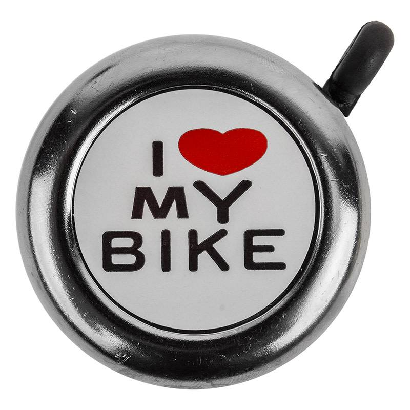 I Love My Bike Bell Chrome