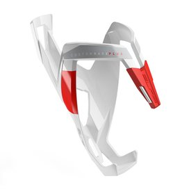 Bottle Cage Custom Race Plus Glossy White/Red