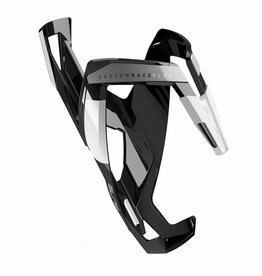 Bottle Cage Custom Race Plus  Glossy Black/white