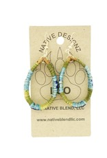 Native Designz Birch-Quill-Sweetgrass Hoop Earrings Patterned