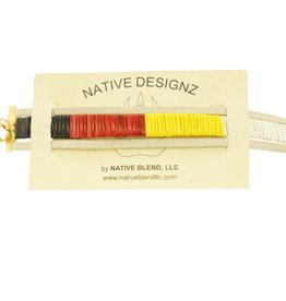 Native Designz Quill-Birch-Leather Medicine Wheel Bracelet