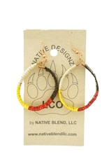 Native Designz Quill-Birch- Medicine Wheel Hoop Earrings