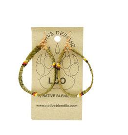 Native Designz Quill-Birch-Sweetgrass Hoops - Medicine Wheel
